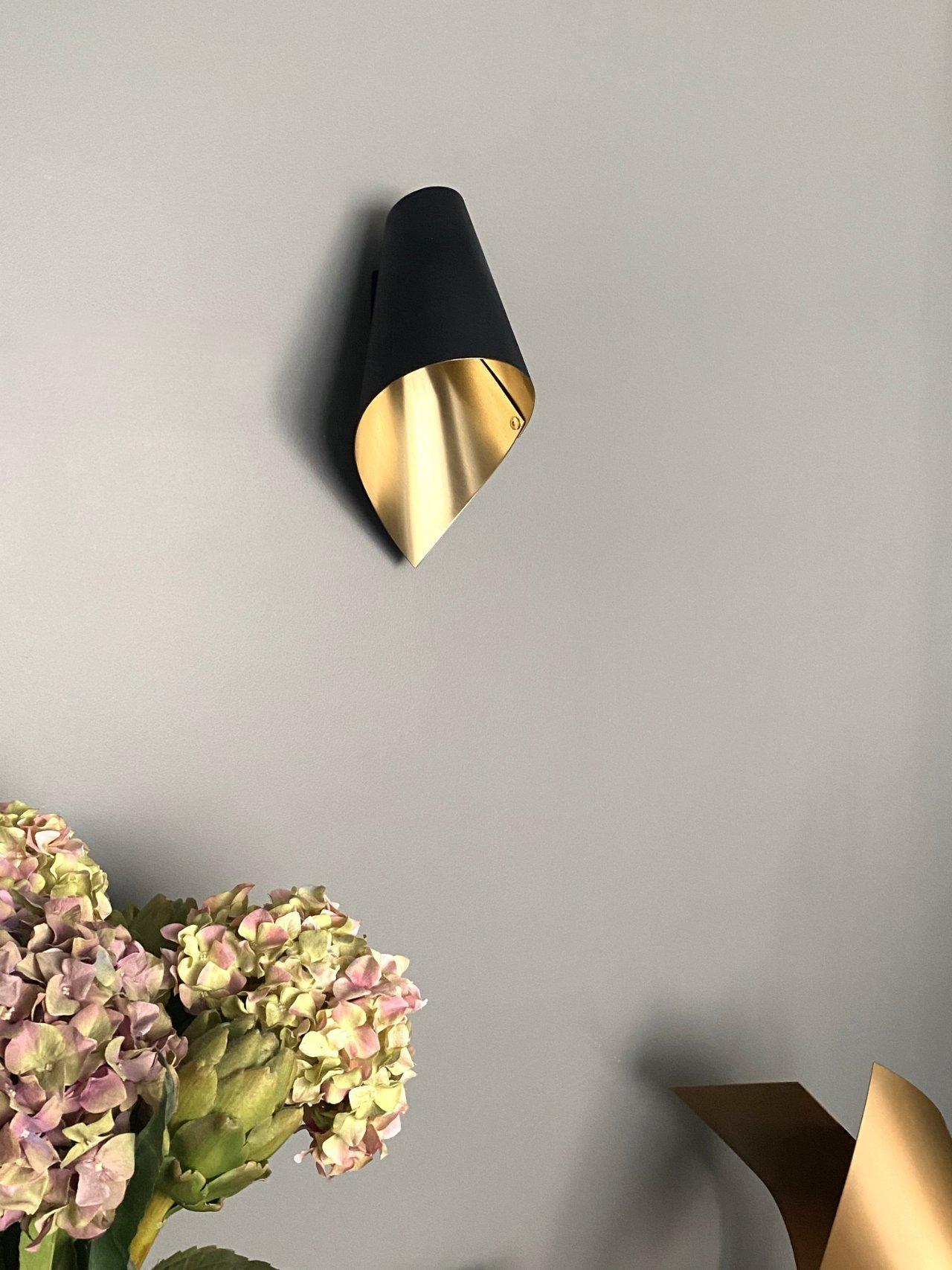 ARCFORM Wall Light in Brushed Brass & Matte Black