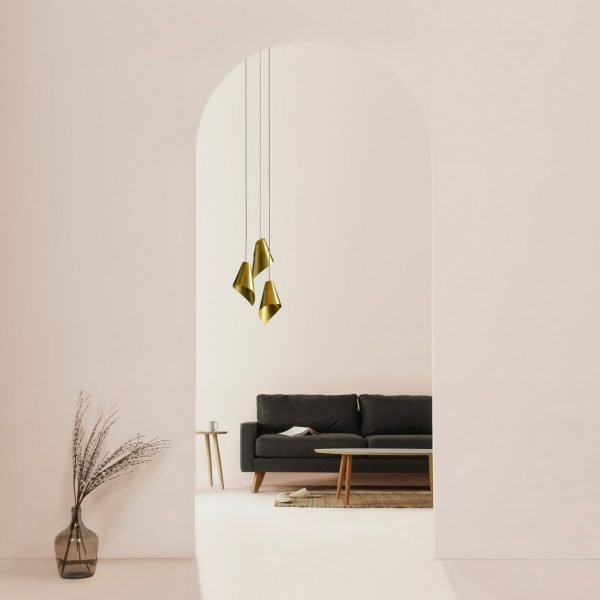 ARCFORM Triple Brushed Brass Pendant Cluster