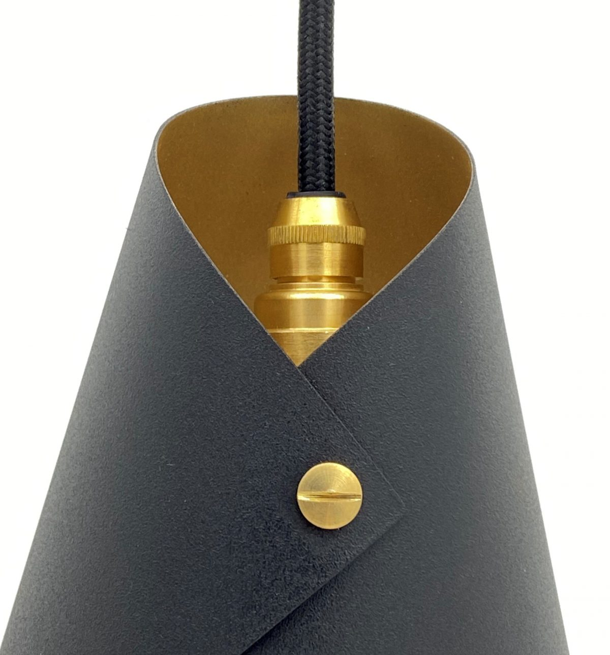 ARCFORM Single Pendant Light in Copper & Matte Black