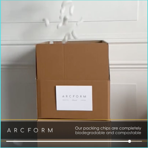 Arcform sustainable packaging