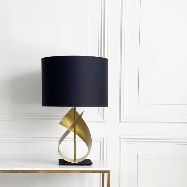 Flux Table Lamp in Brushed Brass